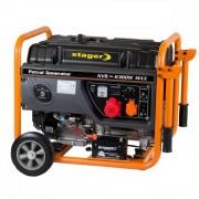 Generator Open Frame Benzina Stager, Gg7300-3E+B+W, 25 L, 230/400 V