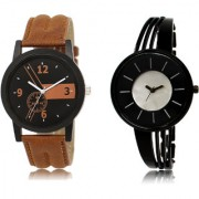 The Shopoholic Brown Black Silver Combo New Collection Brown And Black And Silver Dial Analog Watch For Boys And Girls Stylish Watches For Boys