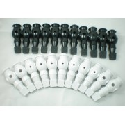 "FREE SHIPPING 22pcs/lot bl/wh 5/8"" rod Foosball Soccer Table football man Player men replacement parts 10"