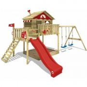 WICKEY Aire de jeux Portique bois Smart Coast avec balançoire et