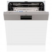 AEG FEB52600ZM Built In Semi Integrated Dishwasher - Stainless Steel