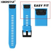XBERSTAR Watchband Strap for Garmin Fenix 5 Easy Fit Replacement Band for forerunner 935 GPS Watch Silicone Easyfit WristBand