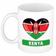 Shoppartners Keniaanse vlag hartje koffiemok 300 ml