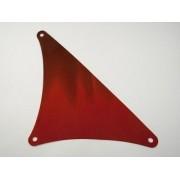 sailbb49-59 Zeil driehoek 17x20 Rood, donker NIEUW loc