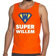 Bellatio Decorations Oranje Super Willem tanktop / mouwloos shirt voor heren