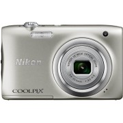 Digitalni foto-aparat Nikon A100, Set sa torbicom Lowepro Stockholm 10, Srebrna