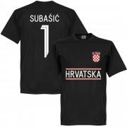 Retake Kroatien Subasic 1 Team T-Shirt - schwarz - 5XL