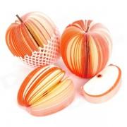 notas de papel de pulpa de madera estilo manzana grande - blanco + rojo (4 PCS / 140 hojas)