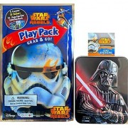 Star Wars Rebels Play Pack Grab and Go Arts and Crafts Gift Set Play Pack Includes 4 Colors to Color 25 Stickers 24 Page Fun Size Coloring Book and Darth Vader Tin Inside 200 Stickers !