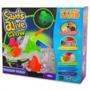Sands Alive Világító homokgyurma vulkán készlet (2721)