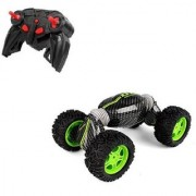Emob One Key Deformation Green Ultimate 360 Degree Rotation Hyper Tumble Remote Control Toy (Multicolor)