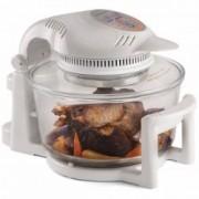 Cuptor digital cu halogen Andrew James Premium AJ000215, 1400 W, Volum extins 17 L, 8 Accesorii, Tub halogen de rezerva