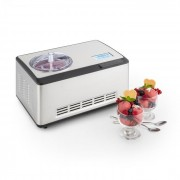 Klarstein Dolce Bacio, устройство за правене на сладолед, компресор, LCD дисплей, панел с докосване, 2 l, неръждаема стомана (TK49-DolceBacio-WH)