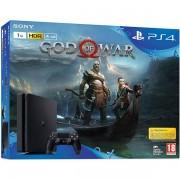 Consola Sony PlayStation 4 Slim 1 TB + God Of War (Negru)
