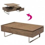 Baakal and Ross Table basse avec plateau relevable et tiroir grise ou bois noyer