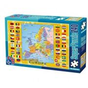 Super puzzle Harti, 240 piese