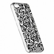 Husa Silicon Transparent Slim Non-Figurative Negru Apple iPhone 5 5S SE