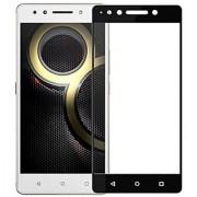 Tempered Glass For Lenovo K8 Plus Full Screen Black Colour Standard Quality