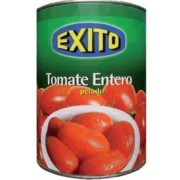 Bote de tomate de pera entero pelado marca Éxito 1 kg.