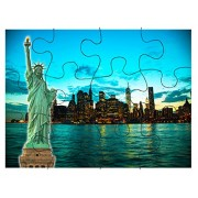 New York City Cityscape Sunset Jigsaw Puzzle Print 30 Pieces