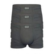 Felix jednobarevné boxerky - 3ks XL tmavě šedá