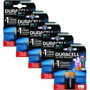 9V Duracell Ultra Power 5 Packs de Piles (MX1604-X5)