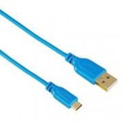 Кабел USB A(м) към USB micro(м), Hama Flexi-Slim, 0.75м