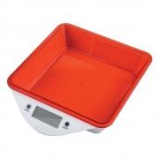 Кухненска дигитална везна ZEPHYR ZP 1651 LS, 5 кг, LCD екран, Включена батерия, Червена