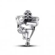 Glamulet Rugby Football Player Charm 925 Sterling Silver Fits Pandora Bracelet