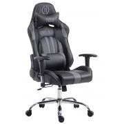 CLP Sedia da ufficio Racing Limit, nero/grigio , nero/grigio, altezza seduta