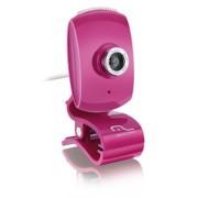 Multilaser Webcam Multilaser Facelook com Microfone USB Rosa - WC048 WC048