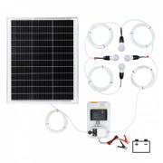 Sistem de iluminat solar 50 W cu 4 becuri