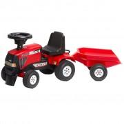 FALK Детски трактор CVX 120 с ремарке, червен