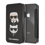 Karl Lagerfeld Ochranný kryt / pouzdro pro iPhone XR - Karl Lagerfeld, Choupette Black Book