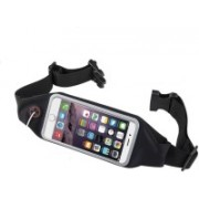 """Blue Birds Good Look And Cool Sports Water Proof Waist Bag Can Hold Mobile Up to 6"""", Keys, Money, Light Weight and Adjustable Free Size SY1 Adjustable Belt(Black)"""