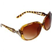 Zyaden Women Brown Over-sized Medium UV Protection Full Rim Sunglasses