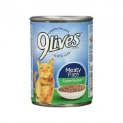 9 Lives Meaty Pate Super Supper Canned Cat Food, 13-oz, case of 12
