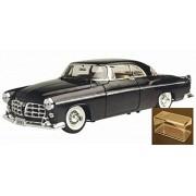 Diecast Car & Accessory Package - 1955 Chrysler C300, Black - Motormax Premium American 73302 - 1/24 Scale Diecast Model Car w/display case