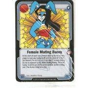 Killer Bunnies Promo Card: Odyssey Promo Cards: Female Mating Bunny Blue #Bb61