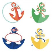 S.S. Discover Anchors Mini Cut-Outs