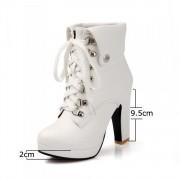 Platform Heels for Women - white / 5