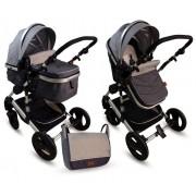BBO Kolica za bebe MATRIX 2U1 siva (SI0016)