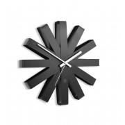 Стенен часовник Umbra Ribbon, цвят черен