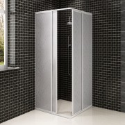 vidaXL Shower Cabin Enclosure PP Board Aluminium Frame Rectangular 90 x 90 cm