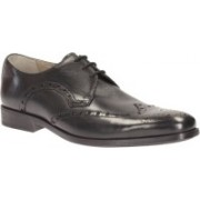 Clarks Amieson Limit Black Leather Lace Up For Men(Black)