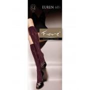Fiore - 3-D patterned knee highs Euren 60 denier