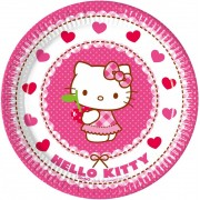 Hello Kitty papírtányér (8 db-os)