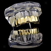 ELECTROPRIME® Set of 10 Grills Teeth Top & Bottom 8 Grill Sets Mouth Teeth Caps Halloween