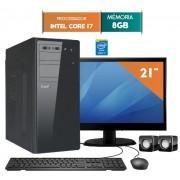 COMPUTADOR EASYPC CORE I7 8GB RAM HD 1TB WIN 10 LED 21