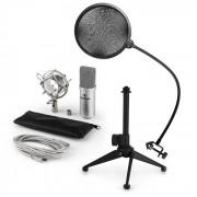 Auna MIC-900S USB set de micrófonos V2 Micrófono condensador Protección anti pop Soporte de mesa (60001942-V2)